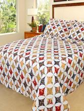 Lavish Home Cassandra Embroidered Quilt Set