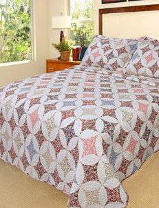 Lavish Home Charlotte Embroidered Quilt Set