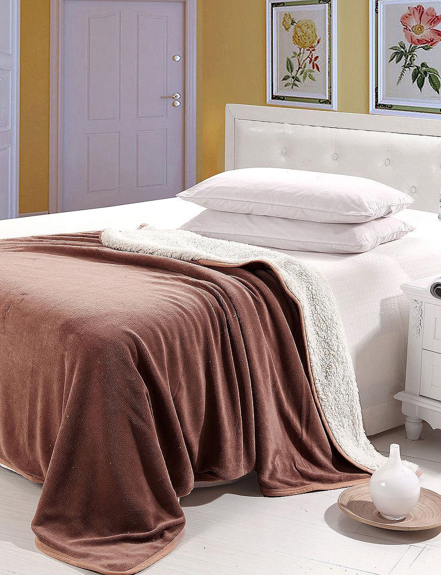 Lavish Home Burgundy Blankets & Throws