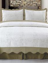 Lavish Home Jeana Embroidered Quilt Set