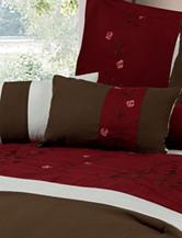 Lavish Home 7-pc. Sarah Embroidered Comforter Set