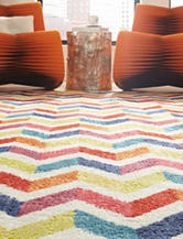 Mohawk Mixed Chevrons Prism Multicolored Rug