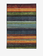 Mohawk Rainbow Multicolored Striped Rug