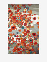 Mohawk Tossed Floral Multicolored Floral Print Rug