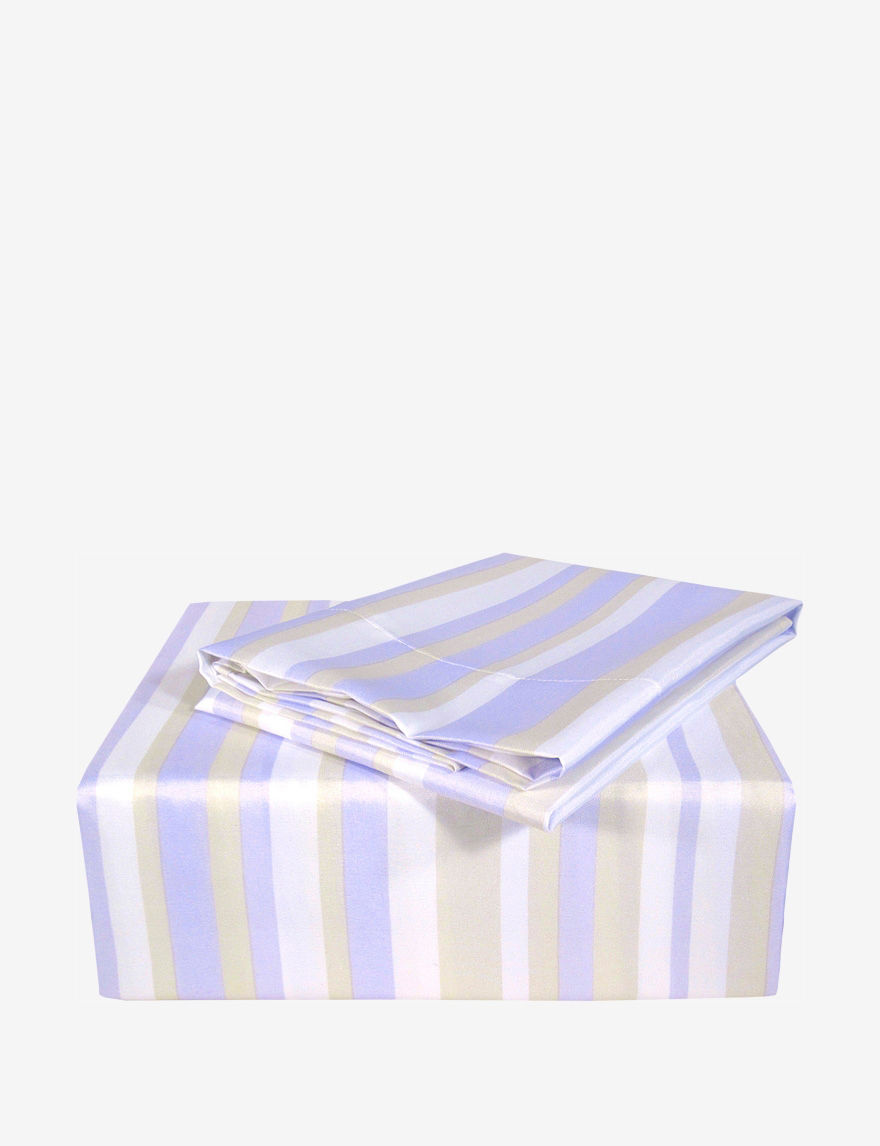 Veratex Purple / White Sheets & Pillowcases