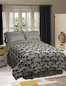 Veratex Flower Skulls Comforter Set