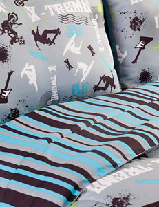 Veratex Blue / Black Comforters & Comforter Sets