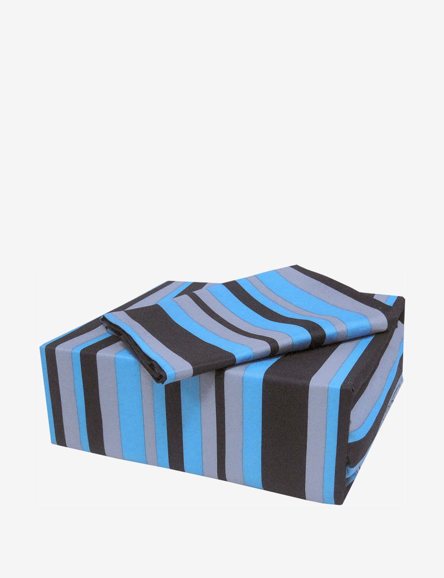 Veratex Blue / Black Sheets & Pillowcases
