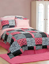 Veratex Pink Skulls Comforter Set
