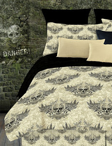 Veratex Winged Skull Comforter Set