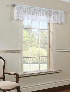 Commonwealth Home Fashions Mona Lisa Tailored Valance – White