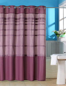 Lavish Home Orleans Lavender Pintuck Shower Curtain with Grommets