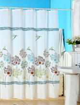 Lavish Home Springtime Printed Shower Curtain