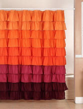 Lavish Home Harvest Ruffle Shower Curtain