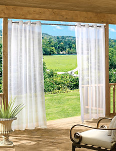 Common Wealth Home Fashions White Curtains & Drapes