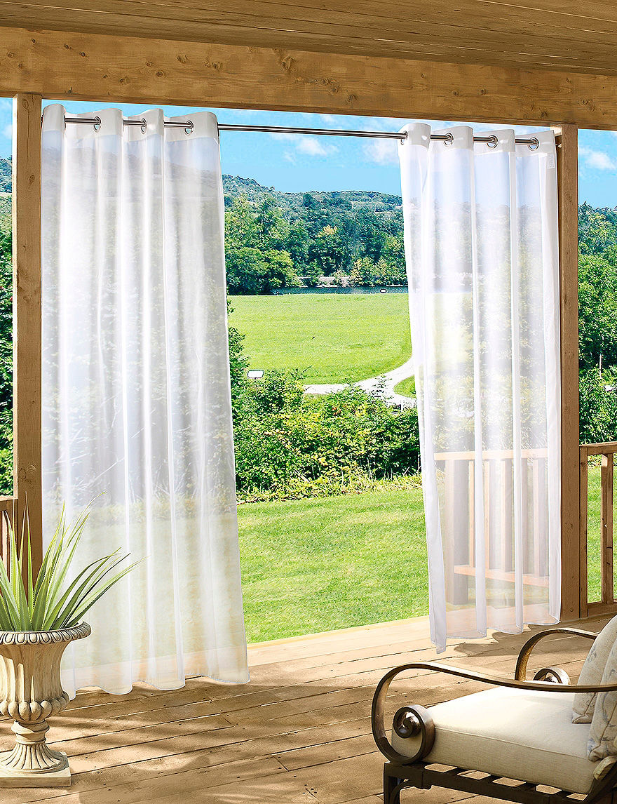 Common Wealth Home Fashions White Curtains & Drapes Window Treatments