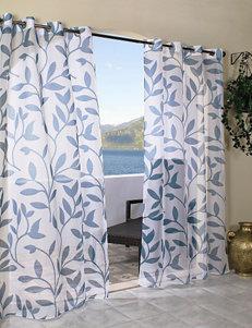 Commonwealth Home Fashions Escape Leaf Grommet Panel – Blue