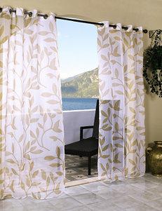 Commonwealth Home Fashions Escape Leaf Grommet Panel – Khaki