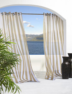 Commonwealth Home Fashions Escape Striped Grommet Panel – Khaki