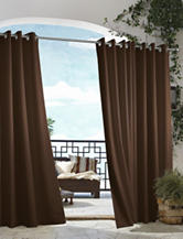 Commonwealth Home Fashions Gazebo Solid Grommet Panel – Chocolate