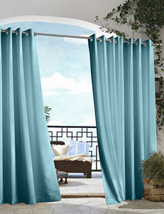 Commonwealth Home Fashions Gazebo Solid Grommet Panel – Blue