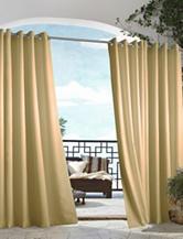 Commonwealth Home Fashions Gazebo Solid Grommet Panel – Khaki