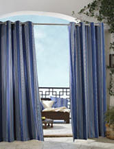 Commonwealth Home Fashions Gazebo Striped Grommet Panel – Blue