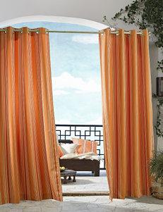 Commonwealth Home Fashions Gazebo Striped Grommet Panel – Orange
