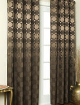 Commonwealth Home Fashions Hologram Grommet Panel – Brown