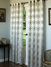 Commonwealth Home Fashions Hologram Grommet Panel – Silver