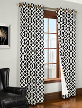 Commonwealth Home Fashions Trellis 2-pc. Grommet Panel – Black