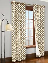 Commonwealth Home Fashions Trellis 2-pc. Grommet Panel – Khaki