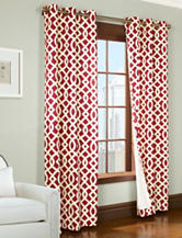 Commonwealth Home Fashions Trellis 2-pc. Grommet Panel – Red