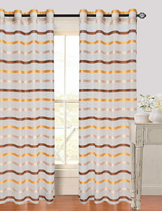 Lavish Home Arla 2-pc. Striped Grommet Curtains Set – Coffee