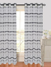Lavish Home Arla 2-pc. Striped Grommet Curtains – Grey