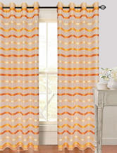 Lavish Home Arla 2-pc. Striped Grommet Curtains – Orange