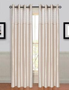 Lavish Home Alla 2-pc. Laser Cut Grommet Curtains – Beige