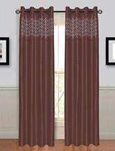 Lavish Home Alla 2-pc. Laser Cut Grommet Curtains – Chocolate Brown
