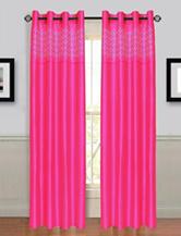 Lavish Home Alla 2-pc. Laser Cut Grommet Curtains – Fuchsia