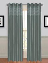 Lavish Home Alla 2-pc. Laser Cut Grommet Curtains – Grey
