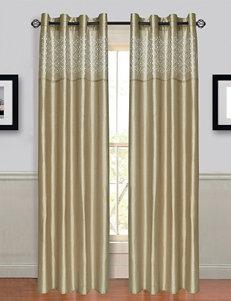 Lavish Home Alla 2-pc. Laser Cut Grommet Curtains – Taupe