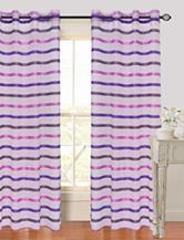 Lavish Home Arla 2-pc. Striped Grommet Curtains – Purple
