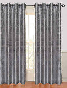 Lavish Home Maggie 2-pc. Faux Silk Striped Grommet Curtain Panels – Grey
