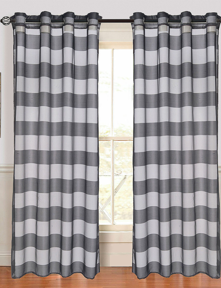 Lavish Home Black Curtains & Drapes Window Treatments