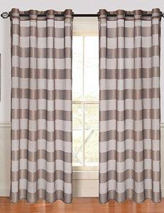 Lavish Home Sofia 2-pc. Striped Grommet Curtain Panels – Coffee