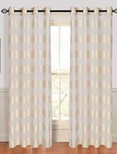 Lavish Home Sofia 2-pc. Striped Grommet Curtain Panels – Ivory