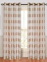 Lavish Home Sofia 2-pc. Striped Grommet Curtain Panels – Taupe