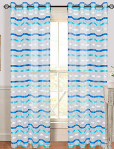 Lavish Home Sonya 2-pc. Striped Grommet Curtains – Blue