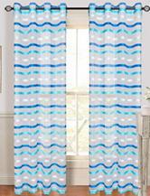 Lavish Home Sonya 2-pc. Striped Grommet Curtains – Blue