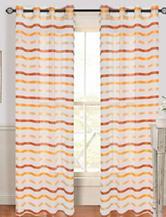 Lavish Home Sonya 2-pc. Striped Grommet Curtains – Orange